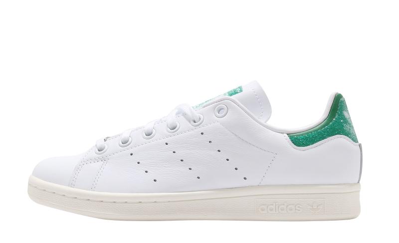 adidas Stan Smith Swarovski Cloud White Green