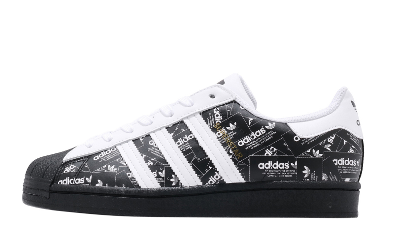 adidas Superstar Core Black Footwear White - KicksOnFire.com