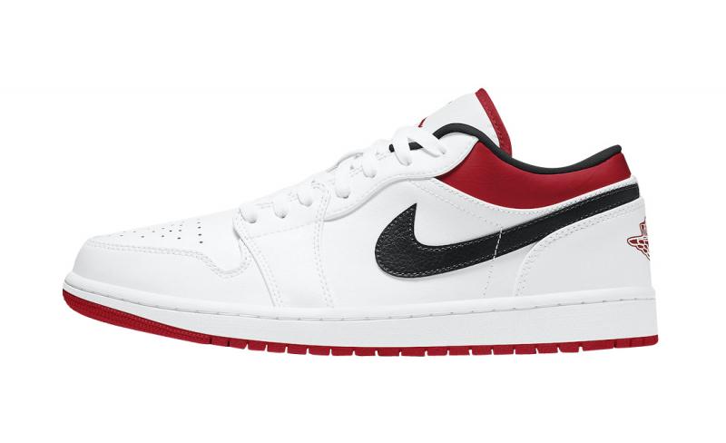 Air Jordan 1 Low White University Red