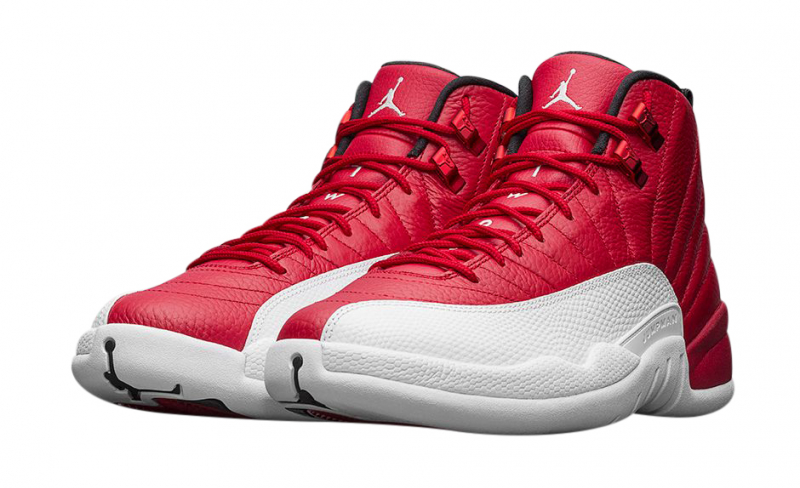 gym red 12s red and white