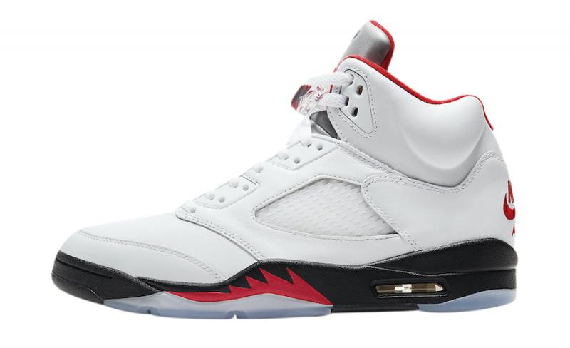 The Air Jordan 5 Fire Red 2020