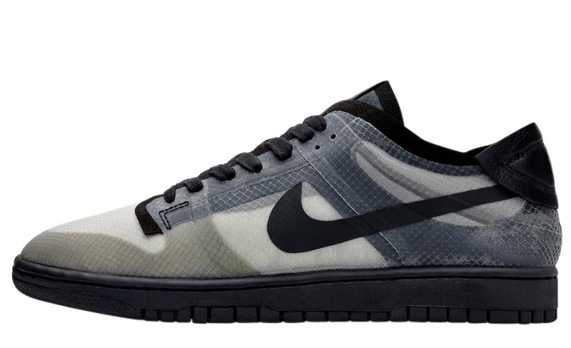 COMME Des GARÇONS X Nike Dunk Low Black Clear