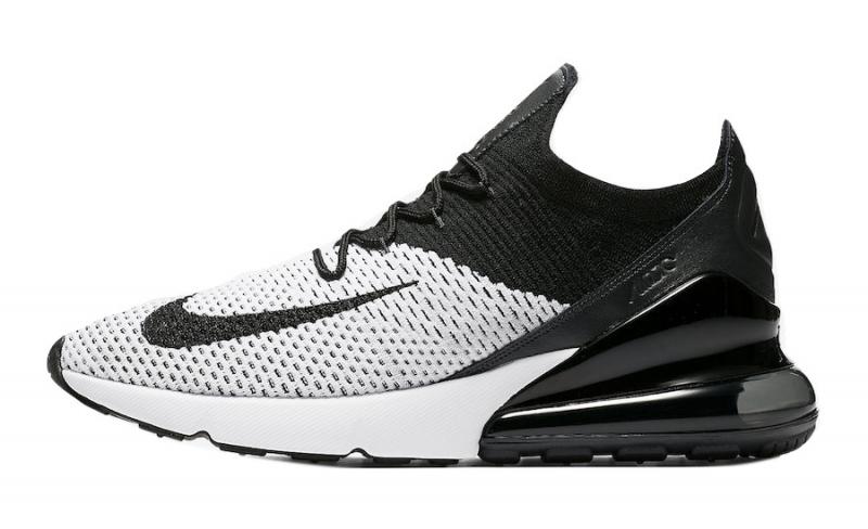 Nike Air Max 270 Flyknit White Black