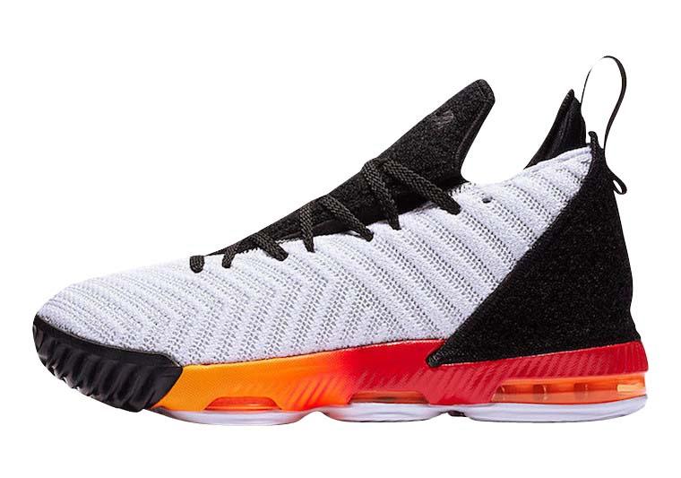 Nike LeBron 16 GS White Laser Orange